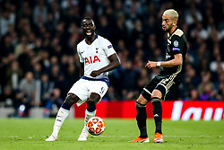 Davinson Sanchez of Tottenham Hotspur takes on Hakim Ziyech of Ajax - Mandatory by-line: Robbie Stephenson/JMP - 30/04/2019 - FOOTBALL - Tottenham Hotspur Stadium - London, England - Tottenham Hotspur v Ajax - UEFA Champions League Semi-Final 1st Leg