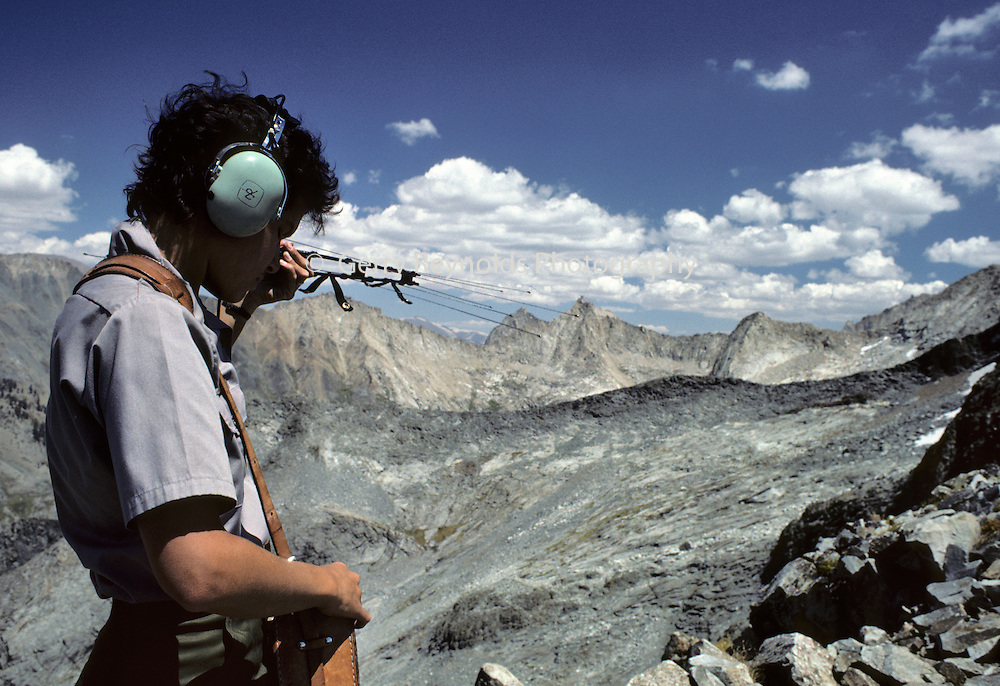 Park Ranger, Radio Tracking,  Equipment, Sequoia and Kings Canyon National Parks, California