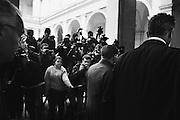 Silvio Berlusconi arriva al seggio elettorale per il voto sul referendum di riforma costituzionale, Roma 04 Dicembre 2016. Christian Mantuano / OneShot<br /> <br /> Italy's former Prime Minister Silvio Berlusconi arrives at the polling station for a referendum on constitutional reforms, on December 4, 2016, in Rome. Christian Mantuano / OneShot