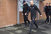 Norwich City forward Teemu Pukki (22) arriving at Turf Moor .The FA Cup match between Burnley and Norwich City at Turf Moor, Burnley, England on 25 January 2020.