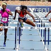 Ace 2017 Year In Review- UTEP's Tobi Amusan in the Women's 100 Meter Hurdles at the 2017 UTEP Invitational, Kidd Field El Paso, TX