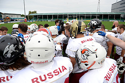 Russia prepare for their IFAF European Championship against the Netherlands at the Sixways Stadium - Photo mandatory by-line: Dougie Allward/JMP - 18/09/2016 - American Football - Sixways Stadium - Worcester, England - Netherlands v Russia - IFAF European Championship