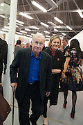 SIR TERENCE CONRAN; LADY CONRAN, Opening of Dairy with Quicksand- John M. Armleder. Dairy art Centre. ~Bloomsbury. 24 April 2013.
