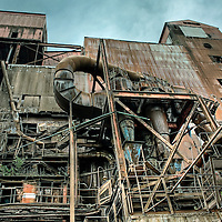 Exterior view of a redundant factory