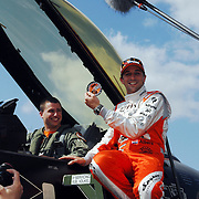 NLD/Volkel/20070420 - Spyker F1 meets F16, Full Throttle 2007, Christijan Albers en F-16 piloot Ralph Aarts