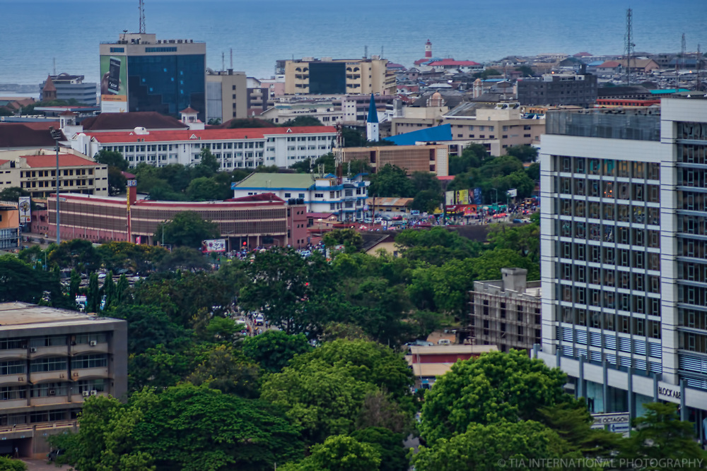 Downtown Accra & Jamestown District (background)