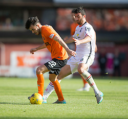 Dundee United&rsquo;s Scott Fraser and Inverness Caledonian Thistle's Ross Draper.<br /> Dundee United 1 v 1 Inverness Caledonian Thistle, SPFL Ladbrokes Premiership game played 19/9/2015 at Tannadice.