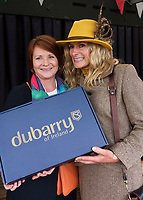 17/08/2017  Treena Sweeney Millars presenting  Cathy Snow Coyne Most Appropriately dressed lady at the Connemara Pony Show in Clifden. Photo:Andrew Downes, xposure