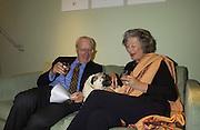 Mr. and Mrs. V. Poklewski Koziel. , . Exhibition of work by Beth Derbyshire, hosted by Alannah Weston. . Glebe Place. © Copyright Photograph by Dafydd Jones 66 Stockwell Park Rd. London SW9 0DA Tel 020 7733 0108 www.dafjones.com