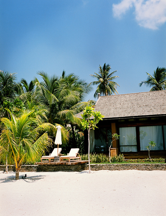 Beach villa.