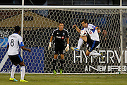 Montreal Impact defender Jeb Brovsky (5) stops the ball during a San Jose Earthquakes penalty kick at Buck Shaw Stadium in Santa Clara, California, on September 17, 2013. (Stan Olszewski/QMI Agency)