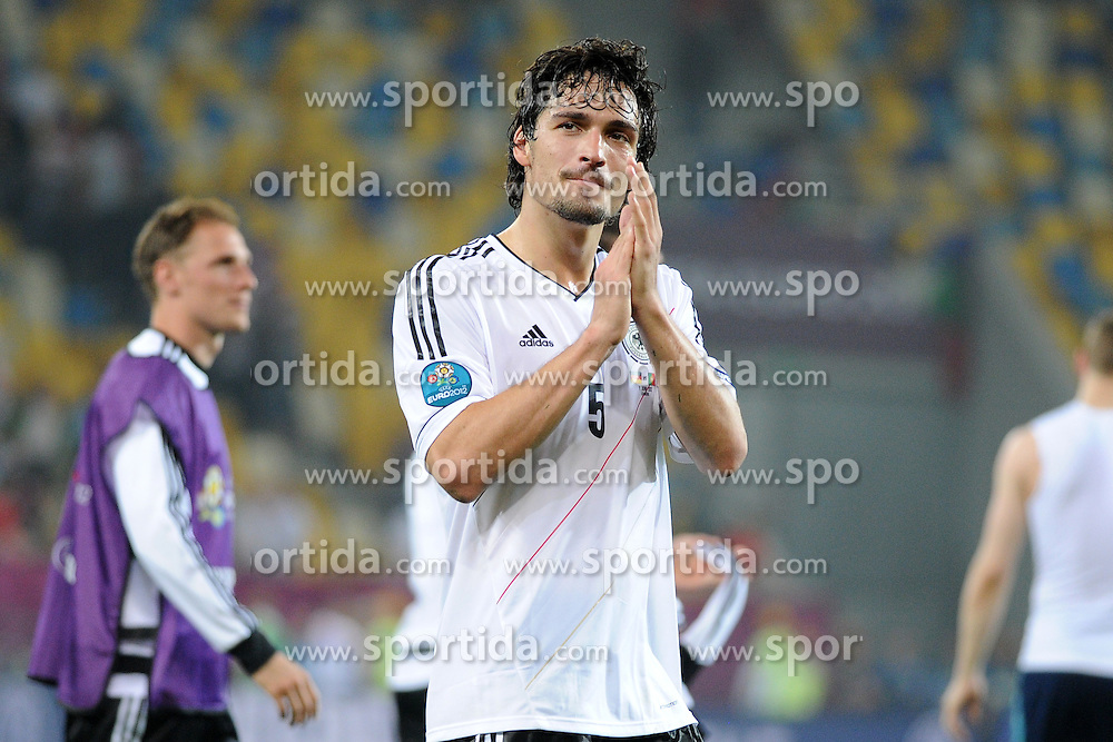 09.06.2012, Arena Lwiw, Lemberg, UKR, UEFA EURO 2012, Deutschland vs Portugal, Gruppe B, im Bild MATS HUMMELS, RADOSC ZWYCIESTWO // during the UEFA Euro 2012 Group B Match between Germany and Portugal at the Arena Lviv, Lviv, Ukraine on 2012/06/09. EXPA Pictures © 2012, PhotoCredit: EXPA/ Newspix/ Michal Stanczyk..***** ATTENTION - for AUT, SLO, CRO, SRB, SUI and SWE only *****
