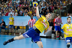 Bojan Skoko of Cimos during 1st Leg handball match between RK Cimos Koper and BM Atletico Madrid (ESP) in Quarterfinals of EHF Champions League 2011/2012, on April 21, 2012 in Arena Bonifika, Koper, Slovenia. (Photo by Vid Ponikvar / Sportida.com)