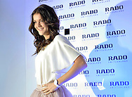 Agnieszka Radwanska - new global brand Rado Ambassador during press conference at the Uffcio Primo Club in Warsaw on April 30, 2014.<br /> <br /> Poland, Warsaw, April 30, 2014<br /> <br /> Picture also available in RAW (NEF) or TIFF format on special request.<br /> <br /> For editorial use only. Any commercial or promotional use requires permission.<br /> <br /> Mandatory credit:<br /> Photo by © Adam Nurkiewicz / Mediasport