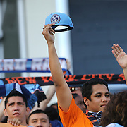 NEW YORK, NEW YORK - June 02:  NYCFC fans during the NYCFC Vs Real Salt Lake regular season MLS game at Yankee Stadium on June 02, 2016 in New York City. (Photo by Tim Clayton/Corbis via Getty Images)