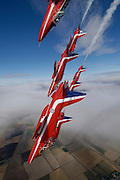 RAF Red Arrows in dive