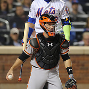 NEW YORK, NEW YORK - October 5: Catcher Buster Posey #28 of the San Francisco Giants during the San Francisco Giants Vs New York Mets National League Wild Card game at Citi Field on October 5, 2016 in New York City. (Photo by Tim Clayton/Corbis via Getty Images)