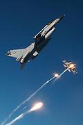 F-16s, Greece, pop flares