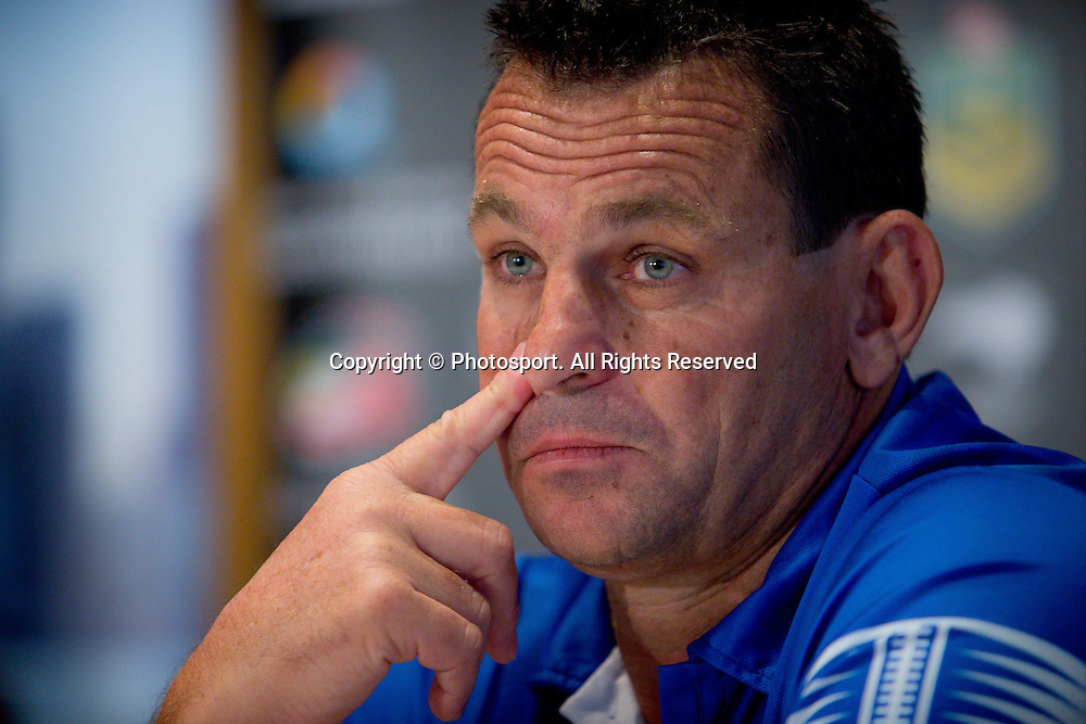 Samoa coach Matt Parish during a preview 4 Nations press conference, Brisbane Australia on October 24, 2014.