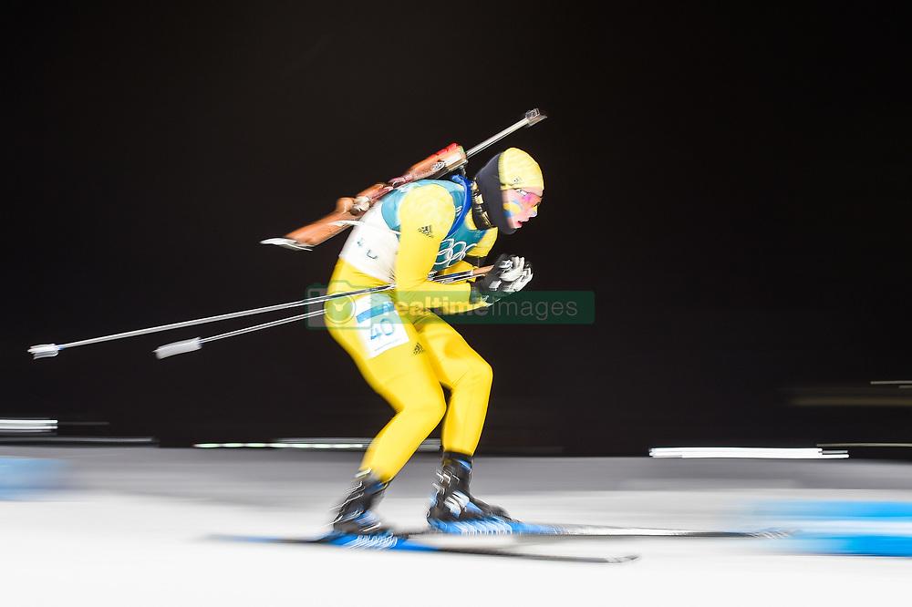 February 11, 2018 - Pyeongchang, Gangwon, South Korea - Sebastian Samuelsson ofSweden at Mens 10 kilometre sprint Biathlon at olympics at Alpensia biathlon stadium, Pyeongchang, South Korea on February 11, 2018. (Credit Image: © Ulrik Pedersen/NurPhoto via ZUMA Press)