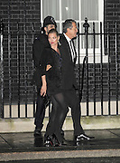 21.FEBRUARY.2011. LONDON<br /> <br /> KATE MOSS AND MARIO TESTINO LEAVING 10 DOWNING STREET AFTER ATTENDING SAMANTHA CAMERON'S DOWNING STREET LONDON FASHION WEEK RECEPTION AND COCKTAIL PARTY.<br /> <br /> BYLINE: EDBIMAGEARCHIVE.COM<br /> <br /> *THIS IMAGE IS STRICTLY FOR UK NEWSPAPERS AND MAGAZINES ONLY*<br /> *FOR WORLD WIDE SALES AND WEB USE PLEASE CONTACT EDBIMAGEARCHIVE - 0208 954 5968*