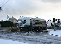 Snow plough on Rochestown Avenue Dublin in the snow November 2010