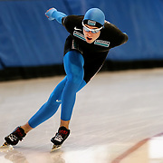 January 4, 2010 - Kearns, UT - Ryan Bedford makes practice laps at the Utah Olympic Oval.