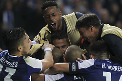 November 1, 2017 - Porto, Porto, Portugal - Porto's Uruguayan defender Maxi Pereira celebrates after scoring goal with teammates during the UEFA Champions League Group G match between FC Porto and Leipzig at Dragao Stadium on November 1, 2017 in Porto, Portugal. (Credit Image: © Dpi/NurPhoto via ZUMA Press)