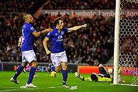 20111226: LONDON, UK - Barclays Premier League 2011/2012: Sunderland vs Everton.<br /> In photo: Leighton Baines of Everton FC celebrates scoring his side's first goal.<br /> PHOTO: CITYFILES