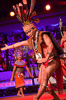 Traditional performances of sing and dancing from Sarawaks many different cultures and tribes are performed daily at the Sarawak Cultural Village near Kuching.