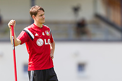 16.07.2014, Alois Latini Stadion, Zell am See, AUT, Bayer 04 Leverkusen Trainingslager, im Bild Philipp Wollscheid (Bayer 04 Leverkusen) // Philipp Wollscheid (Bayer 04 Leverkusen) during a Trainingssession of the German Bundesliga Club Bayer 04 Leverkusen at the Alois Latini Stadium, Zell am See, Austria on 2014/07/16. EXPA Pictures © 2014, PhotoCredit: EXPA/ JFK