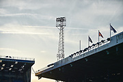 Floodlights during the EFL Sky Bet League 1 match between Portsmouth and Peterborough United at Fratton Park, Portsmouth, England on 30 April 2019.