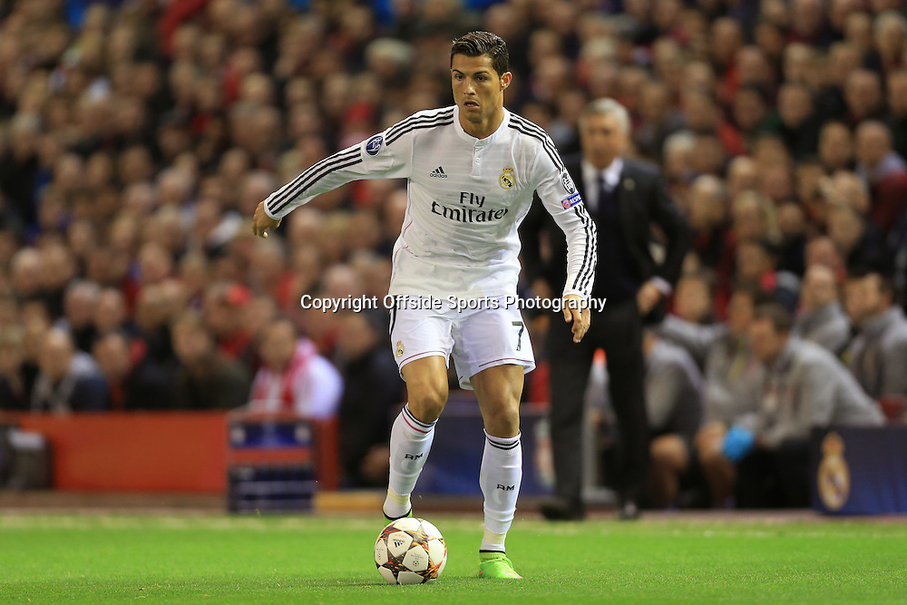 22nd October 2014 - UEFA Champions League - Group B - Liverpool v Real Madrid - Cristiano Ronaldo of Real - Photo: Simon Stacpoole / Offside.