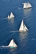 "France Saint - Tropez October 2013, Classic yachts racing at the Voiles de Saint - Tropez<br /> <br /> C,D1,MARISKA,""27,75"",15MJI AURIQUE/1908,WILLIAM FIFE<br /> <br /> C,CAG,SHENANDOAH OF SARK,54,GOELETTE AURIQUE/1902,T.E TERRIS<br /> <br /> C,CAG,SHENANDOAH OF SARK,54,GOELETTE AURIQUE/1902,T.E TERRIS"