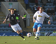 Dundee's Declan Gallagher and Greenock Morton's Garry O'Connor - Dundee v Greenock Morton, SPFL Championship at <br /> Dens Park<br /> <br />  - &copy; David Young - www.davidyoungphoto.co.uk - email: davidyoungphoto@gmail.com