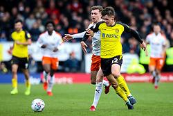 Ben Fox of Burton Albion takes on Jack Stacey of Luton Town - Mandatory by-line: Robbie Stephenson/JMP - 27/04/2019 - FOOTBALL - Pirelli Stadium - Burton upon Trent, England - Burton Albion v Luton Town - Sky Bet League One
