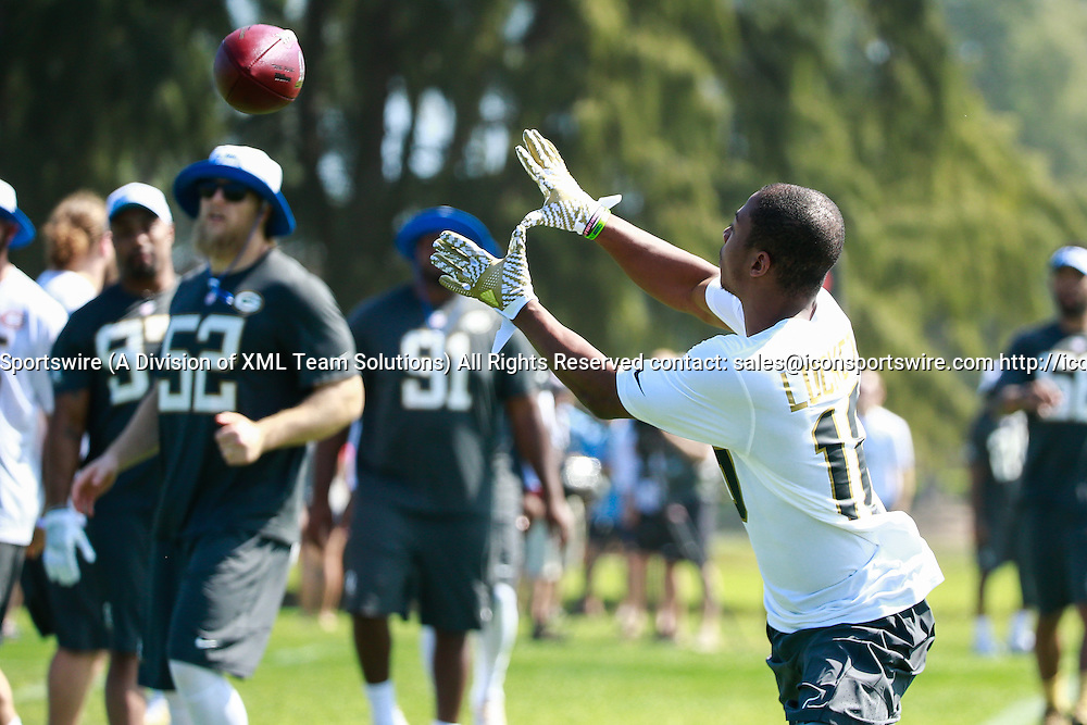 January 29 2016: Team Rice Tyler Lockett during the Pro Bowl practice at Turtle Bay Resort on Oahu, HI. (Photo by Aric Becker/Icon Sportswire)