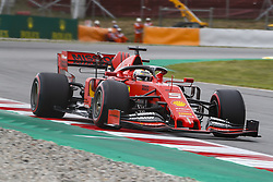 May 11, 2019 - Barcelona, Catalonia, Spain - Ferrari driver Sebastian Vettel (5) of Germany during F1 Grand Prix free practice celebrated at Circuit of Barcelona 11th May 2019 in Barcelona, Spain. (Credit Image: © Mikel Trigueros/NurPhoto via ZUMA Press)