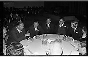 Federation of Irish Industries..1963..03.10.1963..10.03.1963..3rd October 1963..The Federation of Irish Industries commenced its 3rd National Marketing Conference at the Intercontinental Hotel ,Dublin today...Image shows a group discussion at the conference.(L-R), Mr B Hofstede, Lecturer and President of the Development Committee,Netherlands; Mr N McConnell, Aspro Nicholas (Irl) Ltd; Mr Peter Greville, Conference Chairman and Director Goodbody Ltd and Mr W Fraser Jeyes (Irl) Ltd