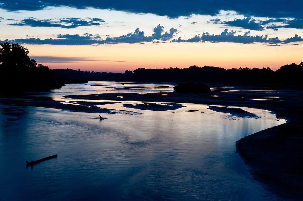 Sunrise over the Loup River, one of Nebraska's major waterways that locals believe is threatened by Keystone XL.