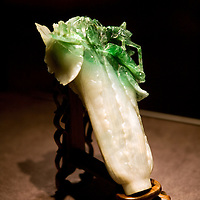 The famous Jadeite cabbage, from the Ch´ing dynasty, during his exhibit at the  National palace museum in Taipei, Taiwan, on Wednesday  May 20, 2009/ Photographer: Bernardo De Niz/