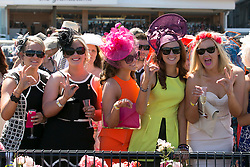 © Licensed to London News Pictures. 5/11/2013. Racegoers during Melbourne Cup Day at Flemington Racecourse on November 5, 2013 in Melbourne, Australia. Photo credit : Asanka Brendon Ratnayake/LNP
