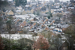 © Licensed to London News Pictures. 16/01/2016. CHIPPING NORTON, OXFORDSHIRE. First snow of the year at Chipping Norton, Oxfordshire. Photo credit : MARK HEMSWORTH/LNP