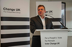 Pictured: Colin McFadyen<br /> <br /> European Election candidates from Change UK headed to Edinburgh today to rally voters to their drive to remain in the EU.  Led by MPS Anna Soubry, Chris Leslie and Gavin Shuker, candidates Kate Foreman, Colin McFadyen, Peter Griffiths, Heather Astbury and Catherine Edgeworth had the oppertunity to explain why they were backing the new party.<br /> <br /> Ger Harley | EEm 19 May 2019