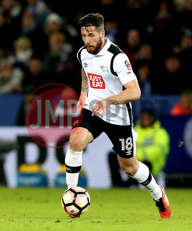 Jacob Butterfield of Derby County - Mandatory by-line: Robbie Stephenson/JMP - 08/02/2017 - FOOTBALL - King Power Stadium - Leicester, England - Leicester City v Derby County - Emirates FA Cup fourth round replay