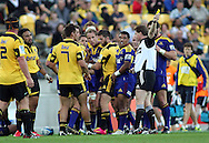 Hurricanes Ma'a Nonu is sent from the field yellow carded. Super 15 - Hurricanes v Highlanders, Westpac stadium, Wellington, 18 February 2011. PHOTO: Grant Down / photosport.co.nz/SPORTZPICS