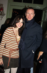 GARY KEMP and his wife LAUREN at a party to celebrate the publication of Style by interior designer Kelly Hoppen held at 50 Cheyne Walk, London on 10th November 2004.<br /><br />NON EXCLUSIVE - WORLD RIGHTS