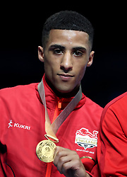 England's Galal Yafai takes the gold medal for the Men's Light Flyweight final at Oxenford Studios during day ten of the 2018 Commonwealth Games in the Gold Coast, Australia.