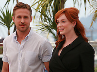 Ryan Gosling and Christina Hendricks at the photo call for the film Lost River at the 67th Cannes Film Festival, Tuesday 20th May 2014, Cannes, France.