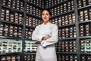 Elena Arzak at her kitchen.
